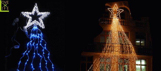 【LEDライト】【50 】LED ドレープライト スター カスタム【星】【ツリー】【流れ】お好きなドレープとお好きなスターで組み合わせ♪組み合わせで自分のドレープをどうぞ♪【2012年新作】【送料無料】【大人気】【イルミネーション】【クリスマス】【LED】【大人気】