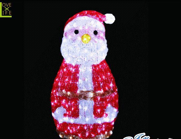 【イルミネーション】【大型商品】LED クリスタルグロー サンタ【サンタクロース】【丸鼻】【サンタさん】【3D】【クリスマス】【ILLUMINATION】【電飾】【装飾】【飾り】【イベント】【光】【LED】【モチーフ】【かわいい】今年もかわいいイルミネーションで飾り付け