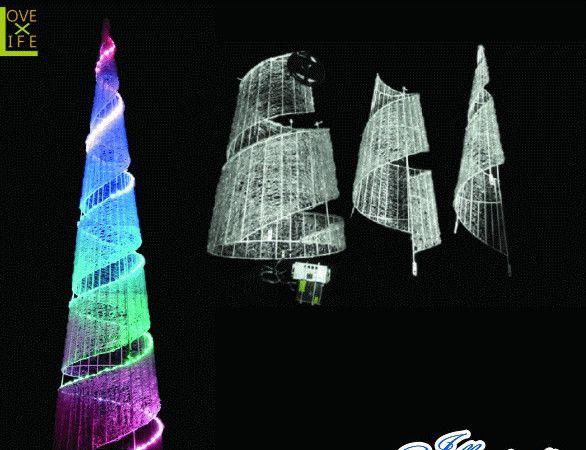 【LED】【イルミネーション】【大型商品】LEDクリスタル スパイラルコーン【タワー】【レインボー】【コーン】【結晶】【アート】【輝き】【デザイン】【電飾】【モチーフ】【クリスマス】【クリスタル】【かわいい】今年もかわいいイルミネーションで飾り付け