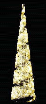 【LED】【イルミネーション】【大型商品】LEDクリスタル スパイラルコーン【S】【ゴールド】【塔】【コーン】【結晶】【アート】【輝き】【デザイン】【電飾】【モチーフ】【クリスマス】【クリスタル】【かわいい】今年もかわいいイルミネーションで飾り付け