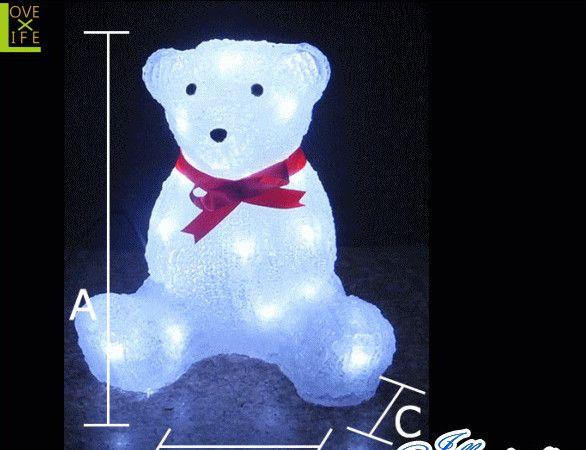 【20 】クリスタル ベアー【モチーフ】【動物】【アニマル】【クマ】【くま】光るテディベア!プレゼントにも喜ばれます♪【2013年新作】【送料無料】【大人気】【イルミネーション】【クリスマス】【LED】【大人気】【大人気】