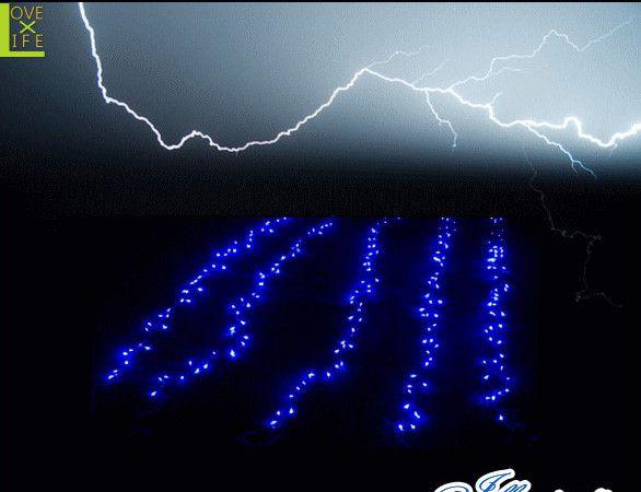 【20 】LEDライジング ナイアガラ【300球】【ライト】【雷】【落雷】【稲妻】空を轟かせる大迫力のライトが新登場♪【2013年新作】【送料無料】【大人気】【イルミネーション】【クリスマス】【LED】【大人気】【大人気】