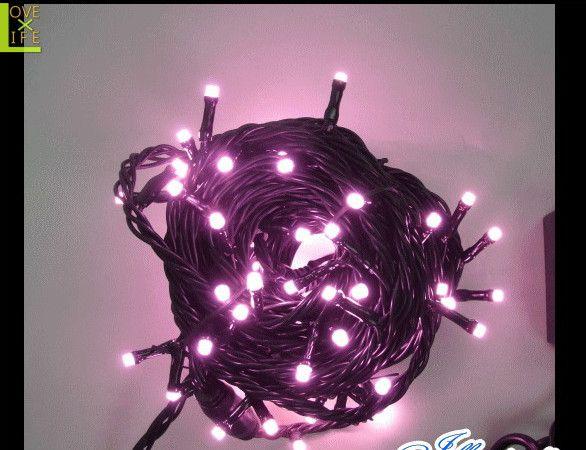 【20 】チェリーピンク ストレートライト【100球】【LEDライト】【LED】万能のストレートライトに新色登場!お菓子のようなピンクです♪【2013年新作】【送料無料】【大人気】【イルミネーション】【クリスマス】【LED】【大人気】