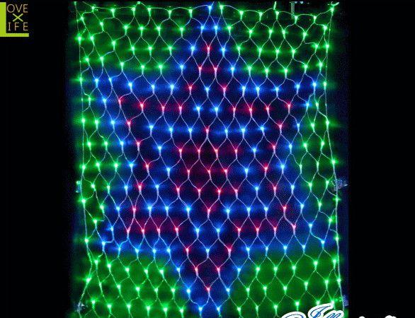 【20 】LED スターネットライト【247球】【クリアコード】【LED】【星】【スター】星型のネットライト!ビッグサイズのスターが目立ちます♪【送料無料】【クリスマス】【イルミネーション】【電飾】【モチーフ】