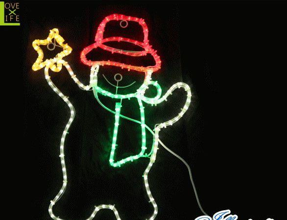 【20 】LED スタースノーマン【スノーマン】【雪だるま】【LED】【雪】かわいい雪だるまが星を持って踊っています♪【送料無料】【クリスマス】【イルミネーション】【電飾】【モチーフ】