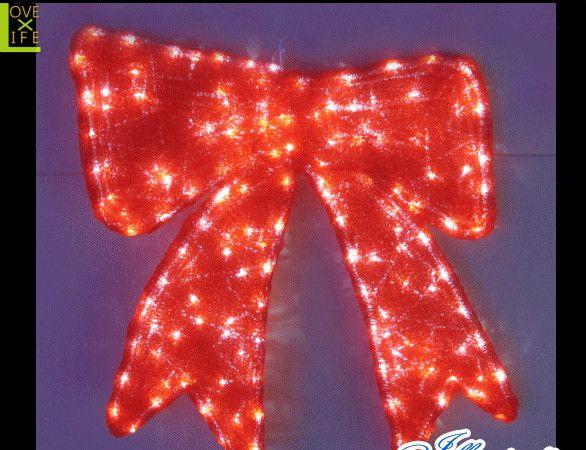 【20 】LED リボン【プレゼント】【りぼん】【お祝い】【LED】赤いレッドリボン!樹脂加工で光がぼんやり全体的に光ります♪【送料無料】【クリスマス】【イルミネーション】【電飾】【モチーフ】