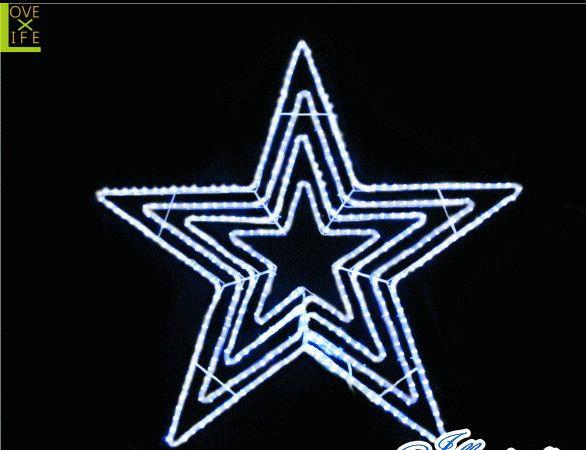 【20 】LED ビッグスター【ホワイト】【ビッグ】【星】【動き】【LED】大きいサイズの一番星!コレだけでも存在感が抜群です♪【送料無料】【クリスマス】【イルミネーション】【電飾】【モチーフ】