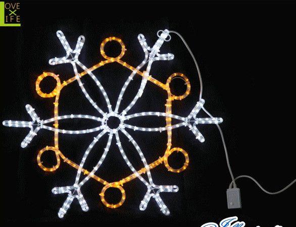 【20 】LED スノーフレーク【白・黄色】【雪】【結晶】【スノー】【LED】イエローとホワイトが織り成すかわいいスノーフレーク♪【送料無料】【クリスマス】【イルミネーション】【電飾】【モチーフ】