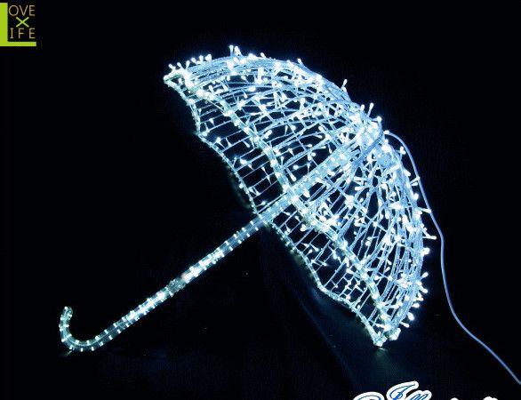 【20 】LED アンブレラ【3D】【立体】【傘】【かさ】【雨】【LED】珍しい傘がモチーフのイルミネーション!他にないモチーフで目立っちゃおう♪【送料無料】【クリスマス】【イルミネーション】【電飾】【モチーフ】