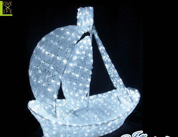 【20 】LED ボート【3D】【立体】【船】【帆船】【ボート】【LED】船がモチーフのクリスタルイルミネーション!美しい仕上がりで満足させます♪【送料無料】【クリスマス】【イルミネーション】【電飾】【モチーフ】