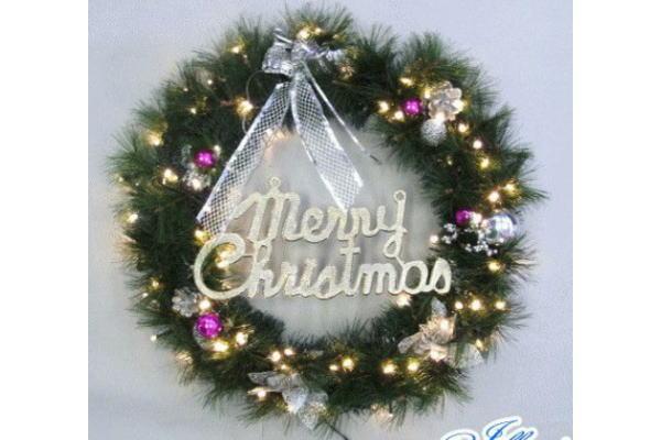 【20 】LED クリスマスリース【リース】【室内用】【木】【モチーフ】室内用のクリスマスリース!電球色のライト付きでやさしく光ります♪【】【クリスマス】【イルミネーション】【電飾】【モチーフ】
