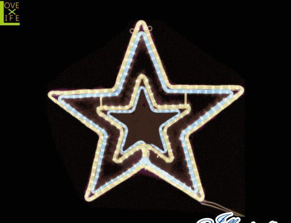【20 】LED ダブルスター【ホワイト・ゴールド】【スター】【星】【動き】【LED】ホワイトゴールドのスターが激しく光ります!温かみがあるカラー♪【送料無料】【クリスマス】【イルミネーション】【電飾】【モチーフ】