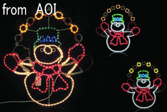 ジャグリング スノーマン【20 】【送料無料】【クリスマス】【イルミネーション】【電飾】【モチーフ】【大人気】