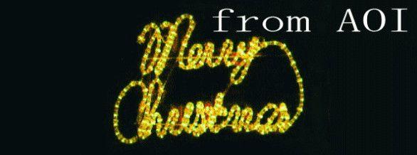 LEDメリークリスマス・黄【20 】【送料無料】【クリスマス】【イルミネーション】【LED】【電飾】【モチーフ】【大人気】