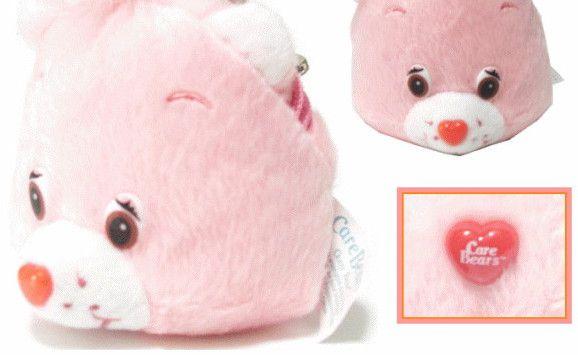 15 !! ケアベア フェイスコインパース 財布(ウォレット)ケース コインケース キーホルダーにも♪まんまるなベアの顔がとってもCUTE!ピンクのベアは一番人気です♪