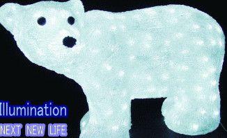 LEDイルミネーション LED クリスタル ベア スタンド くま 【LED】【20 】【送料無料】【クリスマス】【イルミネーション】【電飾】【モチーフ】【大人気】【クマ(熊)】