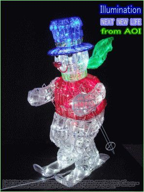クリスマス イルミネーション LED クリスタル スキースノーマン【LED】【20 】【送料無料】【クリスマス】【イルミネーション】【電飾】【モチーフ】【大人気】