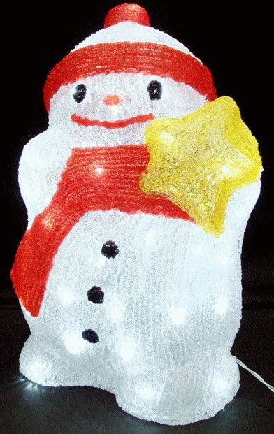【新商品】【40球】LEDイルミネーション LEDアクリル ベイビースノーマン♪雪だるま人気ですヨ♪アクリルですので上品です♪【20 】【クリスマス】【ベビー】【イルミネーション】【電飾】【送料無料】【2010イルミ_debut】【2010イルミ_led】【2010イルミ_eco】