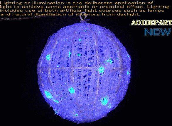 【新商品】LEDイルミネーション ブルー LEDクリスタルボールライト【20cm】♪まん丸ボールライト♪デコレーションにGOOD♪【20 】【クリスマス】【LED】【イルミネーション】【電飾】【送料無料】【2010イルミ_debut】【2010イルミ_led】【2010イルミ_eco】