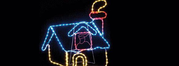 【新商品】LEDイルミネーション LEDモチーフ 煙突ハウス♪クリスタルな輝きが新鮮!ロマンチックで抜群の存在感♪【大人気】【クリスマス】【LED】【イルミネーション】【電飾】【送料無料】【2010イルミ_debut】【2010イルミ_led】【2010イルミ_eco】