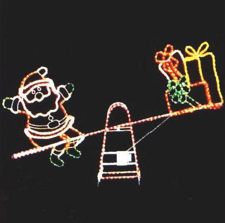 クリスマス イルミネーション シーソーサンタ【20 】【送料無料】【クリスマス】【イルミネーション】【電飾】【モチーフ】【大人気】