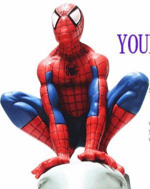 SPIDERMAN スパイダーマン スクワット レジンオブジェ どっしりとした重量感で作りもGOOD!カッコイイです!【】【人気商品】【大人気】