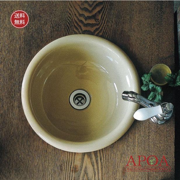 手洗器 丸型 シンプル 手洗い鉢 Mラウンド