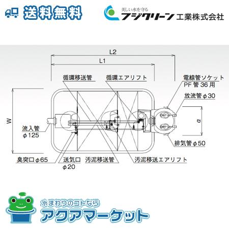 ###フジクリーン 小型浄化槽 放流ポンプ槽一体型 14人槽 CA-14P型 [送料無料]