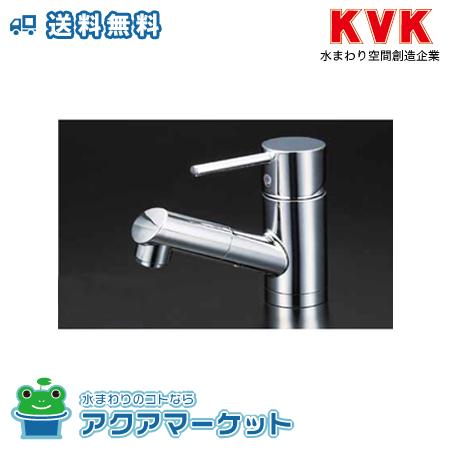 ###KVK 水栓 浄水器付グースネックシングルレバー式シャワー付混合栓(eレバー) KM6081SCEC [送料無料]