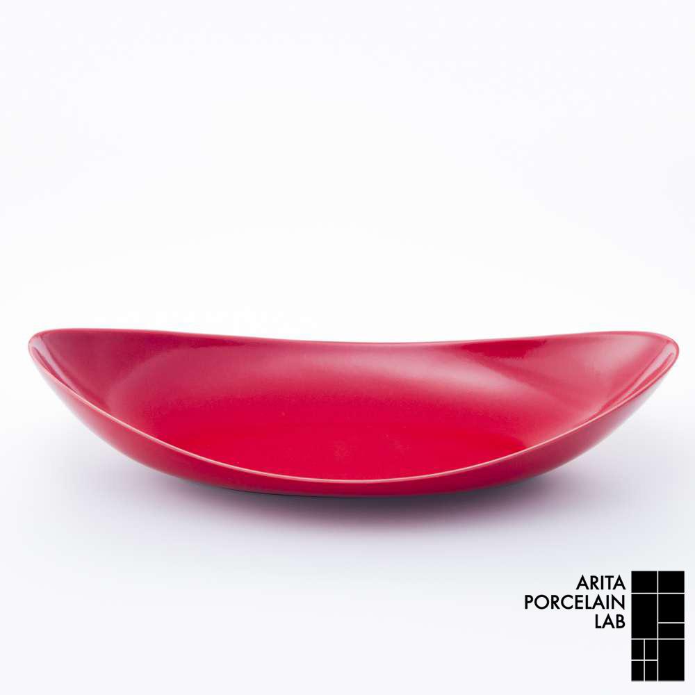 和食器 盛皿 STANDARD COLOR 楕円皿(大) 赤釉 和モダン ブランド 食器 食器ギフト パスタ皿 お中元 アリタポーセリンラボ