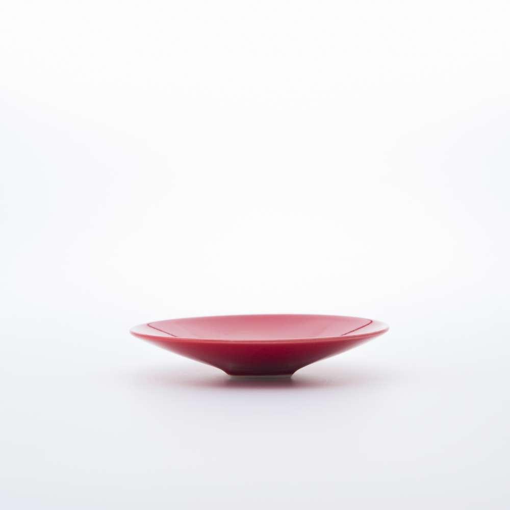 和食器 取り皿 STANDARD COLOR 角高台取皿 赤釉 和モダン ブランド 食器 食器ギフト ラウンドプレート