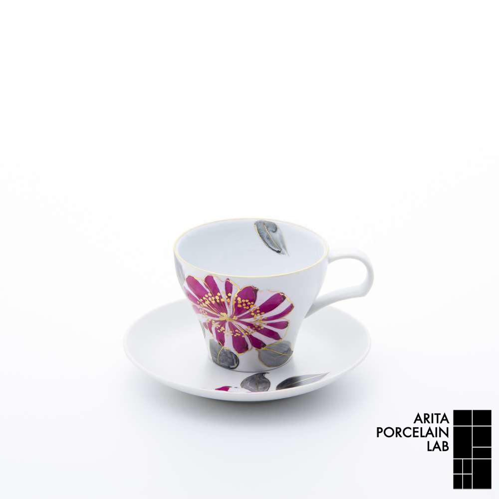和食器 コーヒーカップ GALLERY ティーカップ&ソーサー 山茶花 和モダン ブランド 食器 食器ギフト アリタポーセリンラボ