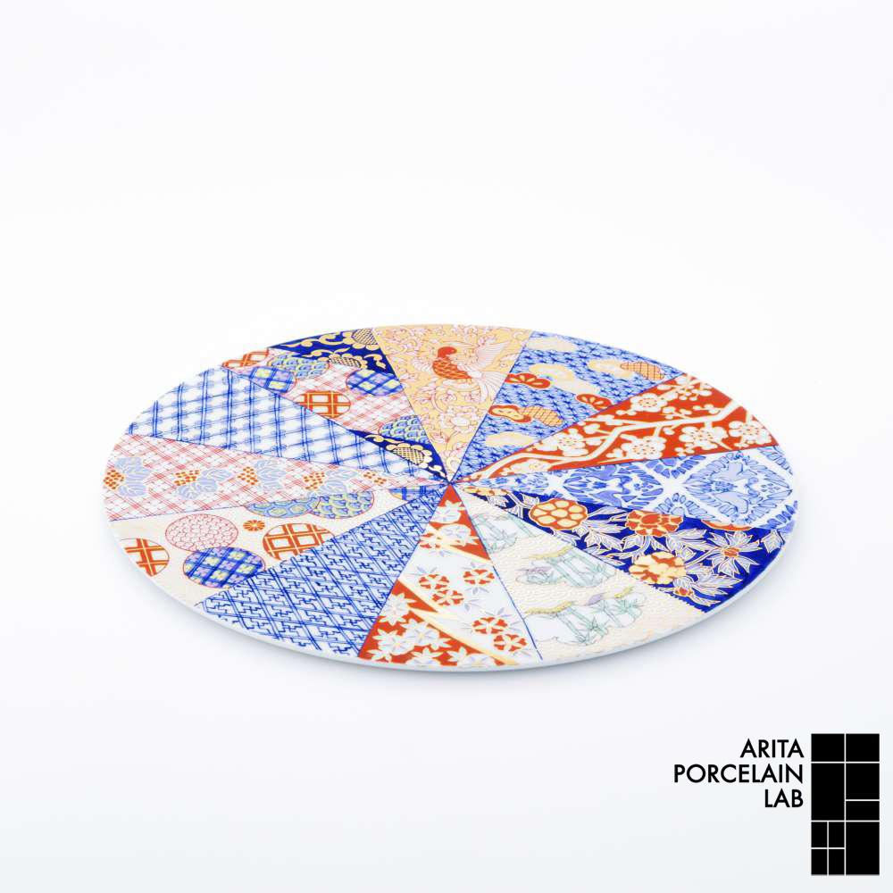 和食器 大皿 GOLD IMARI フラットプレート(LL) 旭日吉祥紋 和モダン ブランド 食器 食器ギフト ショープレート アリタポーセリンラボ