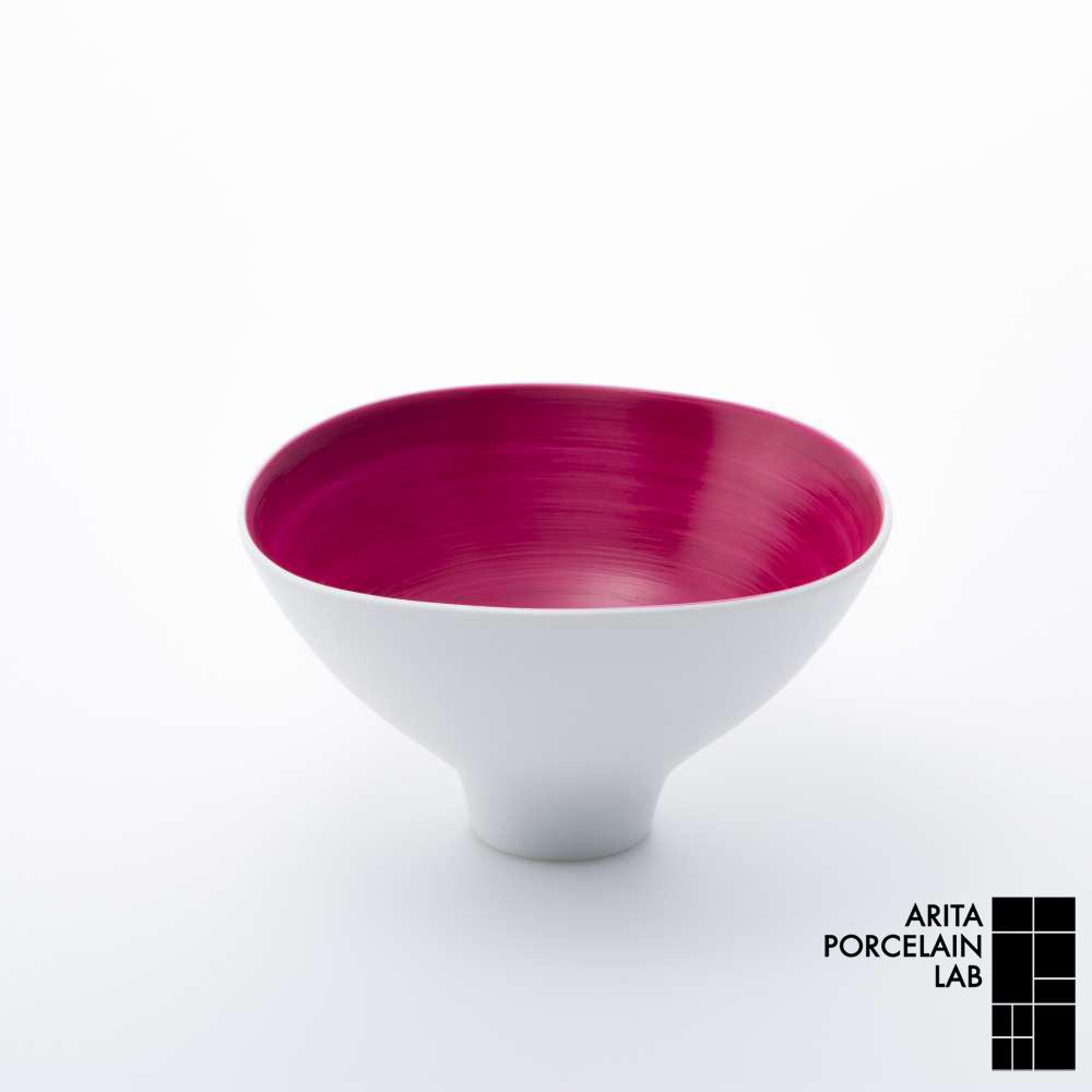 和食器 中鉢 JAPAN AUTUMN 三方なぶり鉢 ワインレッド 和モダン ブランド 食器 食器ギフト サラダボウル お中元 アリタポーセリンラボ