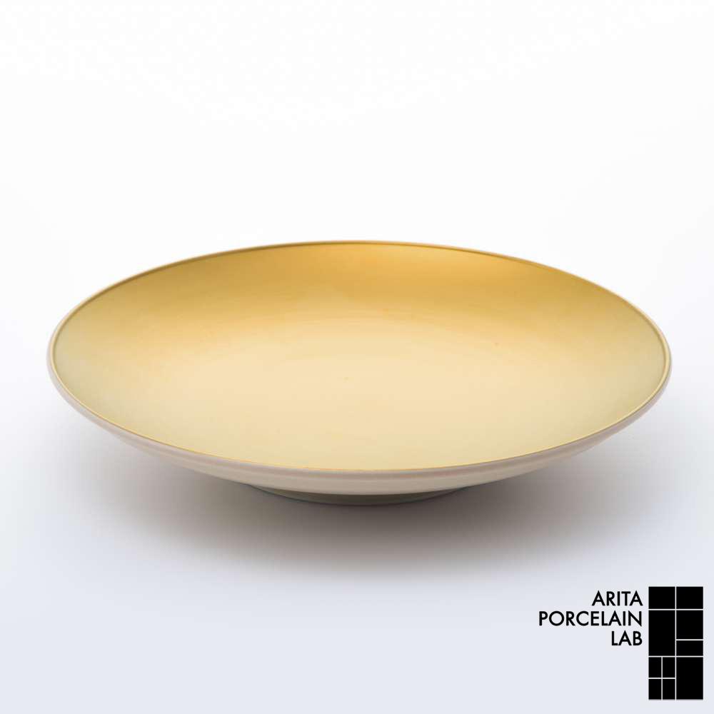 和食器 中皿 JAPAN AUTUMN 平皿 (大)ゴールド 和モダン ブランド 食器 食器ギフト デザートプレート アリタポーセリンラボ
