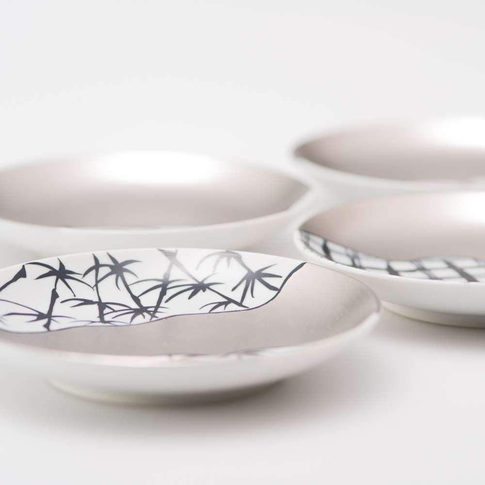 和食器 小皿 JAPAN SNOW 取り皿 「繁栄」 4枚セット 吉祥文様 和食器 セット 和モダン ブランド 食器 食器ギフト ラウンドプレート