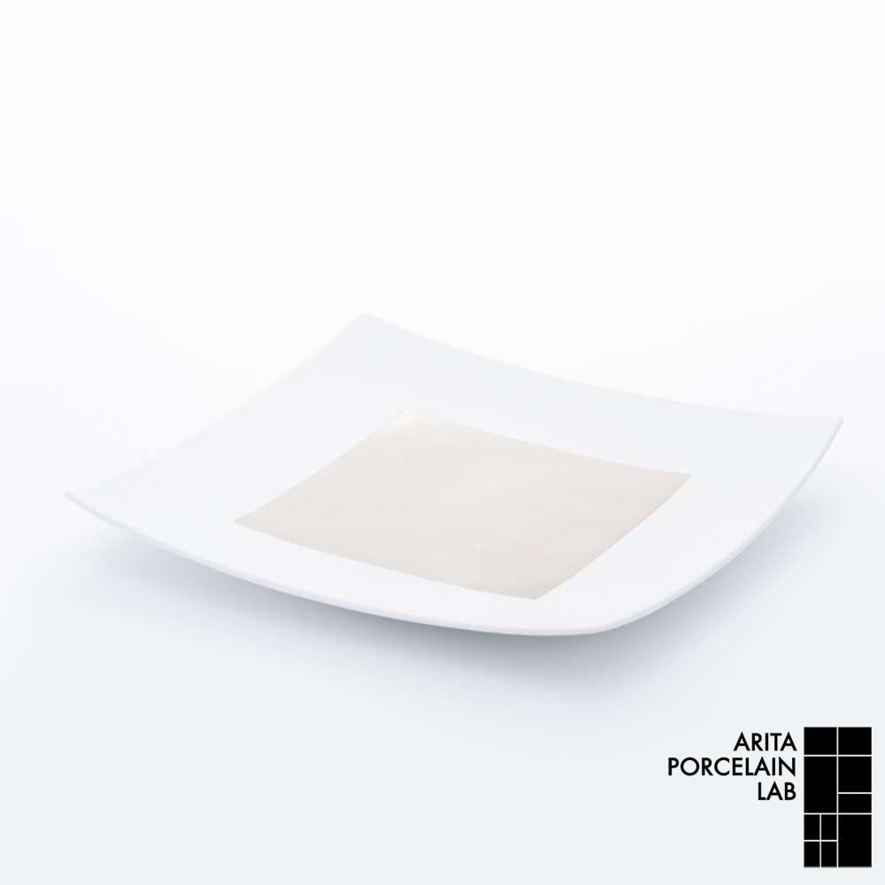 和食器 角皿 JAPAN SNOW 正方皿(特大) プラチナ 和モダン ブランド 食器 食器ギフト スクエアプレート
