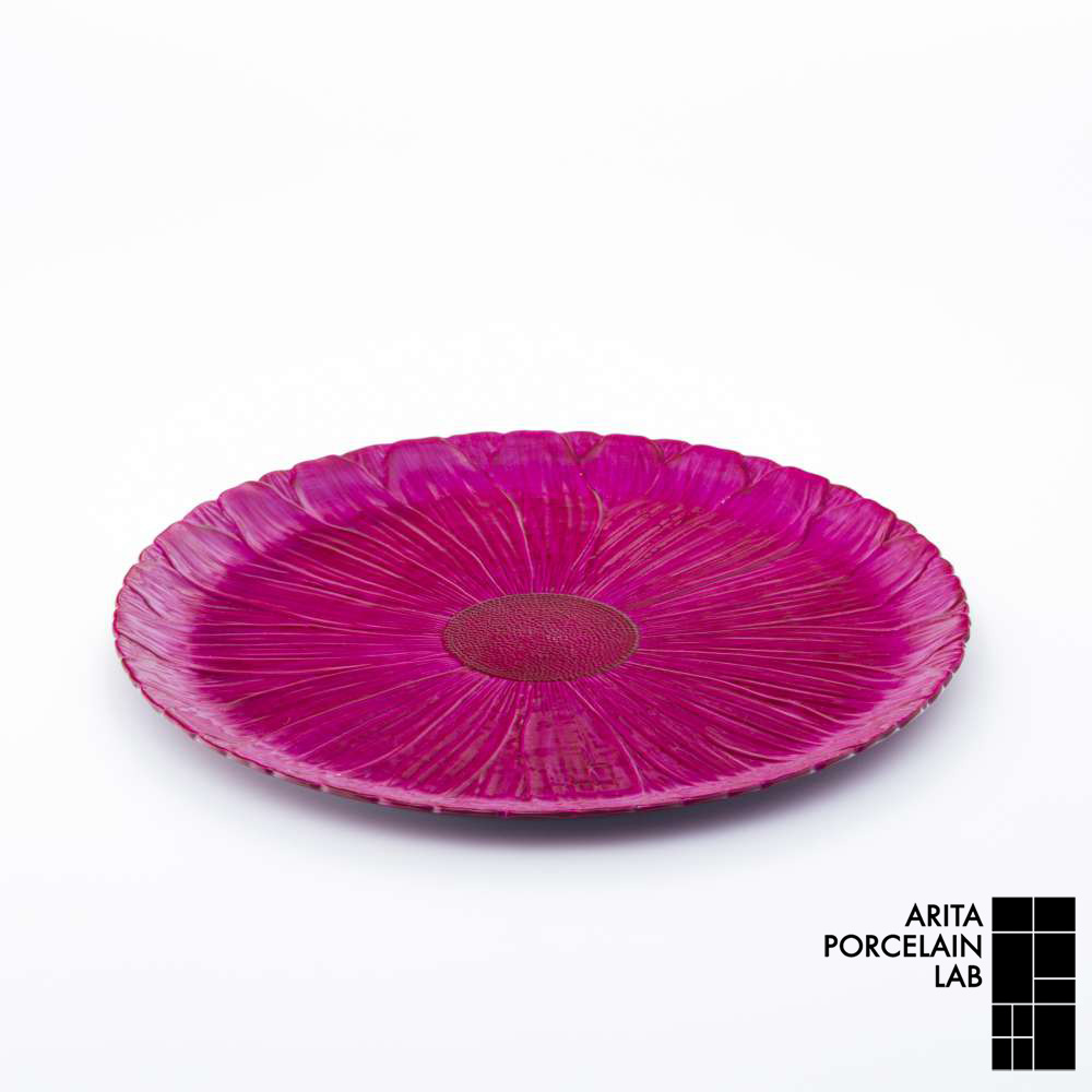 和食器 大皿 ONLY GARDEN マーガレット(大) フューシャピンク 和モダン ブランド 食器 食器ギフト ショープレート アリタポーセリンラボ