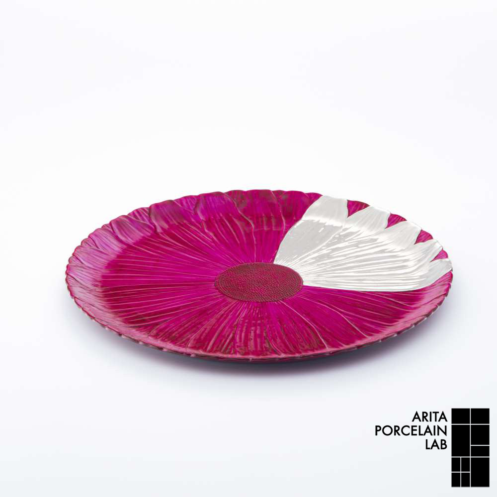 和食器 大皿 ONLY GARDEN マーガレット(大) フューシャピンク プラチナ 和モダン ブランド 食器 食器ギフト ショープレート アリタポーセリンラボ