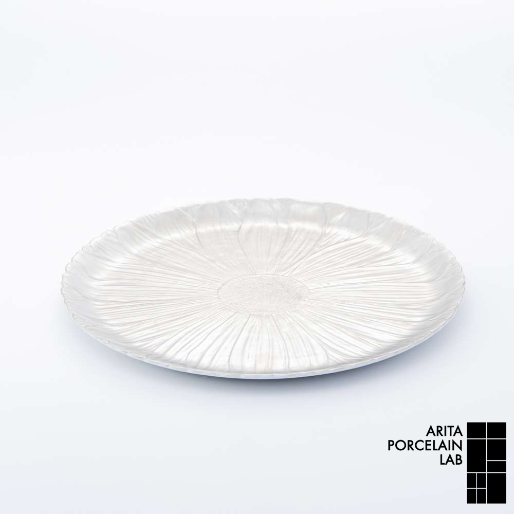 和食器 大皿 ONLY GARDEN マーガレット(大) プラチナ 和モダン ブランド 食器 食器ギフト ショープレート アリタポーセリンラボ