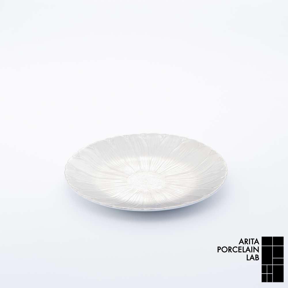 和食器 中皿 ONLY GARDEN マーガレット(小) プラチナ 和モダン ブランド 食器 食器ギフト デザートプレート アリタポーセリンラボ
