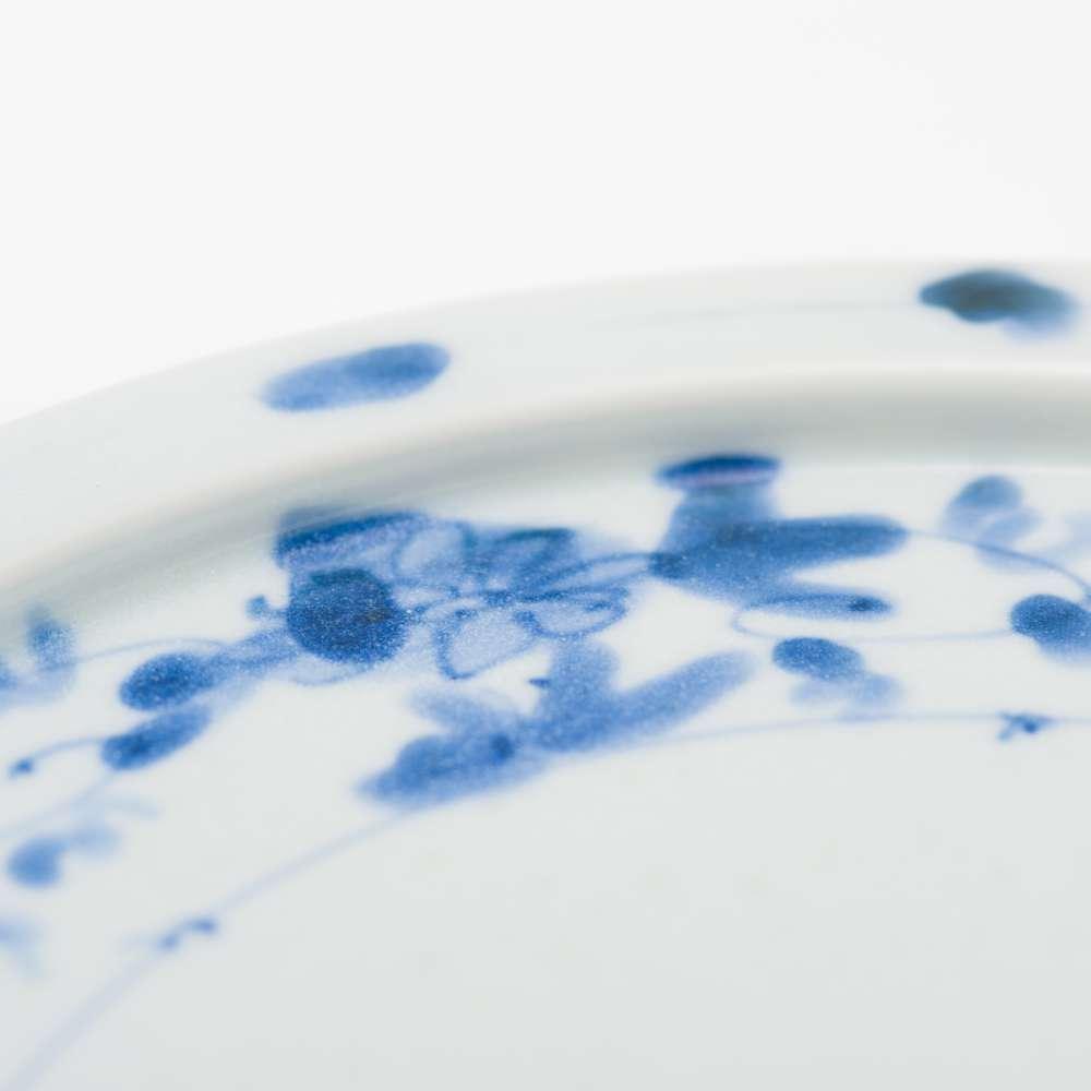和食器 中皿 岡晋吾 7寸天平平皿 牡丹唐草 和モダン ブランド 食器 食器ギフト デザートプレート