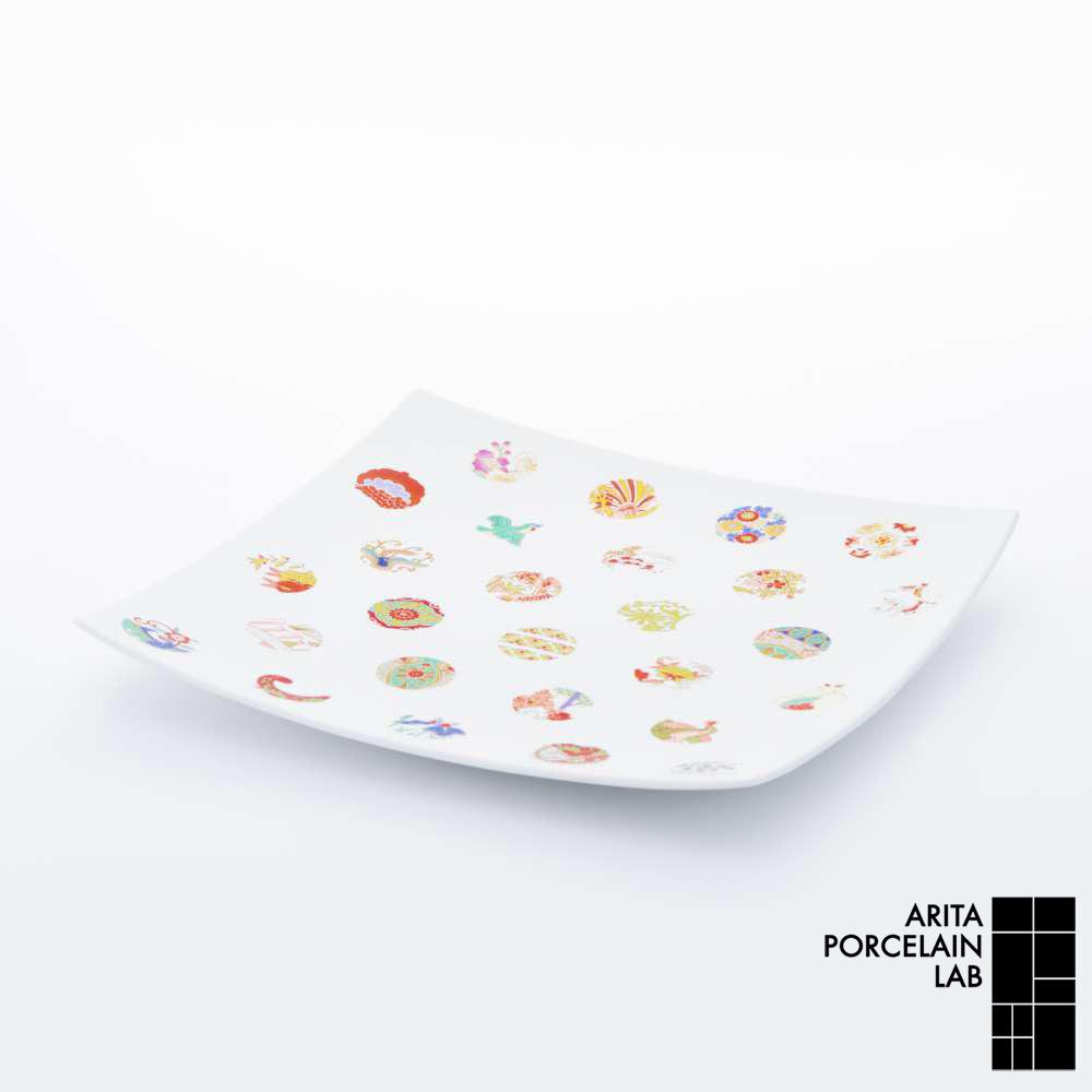 和食器 角皿 TIME MACHINE 正方皿(特大) ASTEROID 和モダン ブランド 食器 食器ギフト スクエアプレート アリタポーセリンラボ