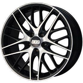 取付対象 送料無料 235 55R18 18インチ BBS GERMANY BBS CS サテンブラック ダイヤモンドカット 7.5J 7.50-18 MICHELIN ミシュラン クロスクライメート SUV オールシーズンタイヤ ホイール4本セット