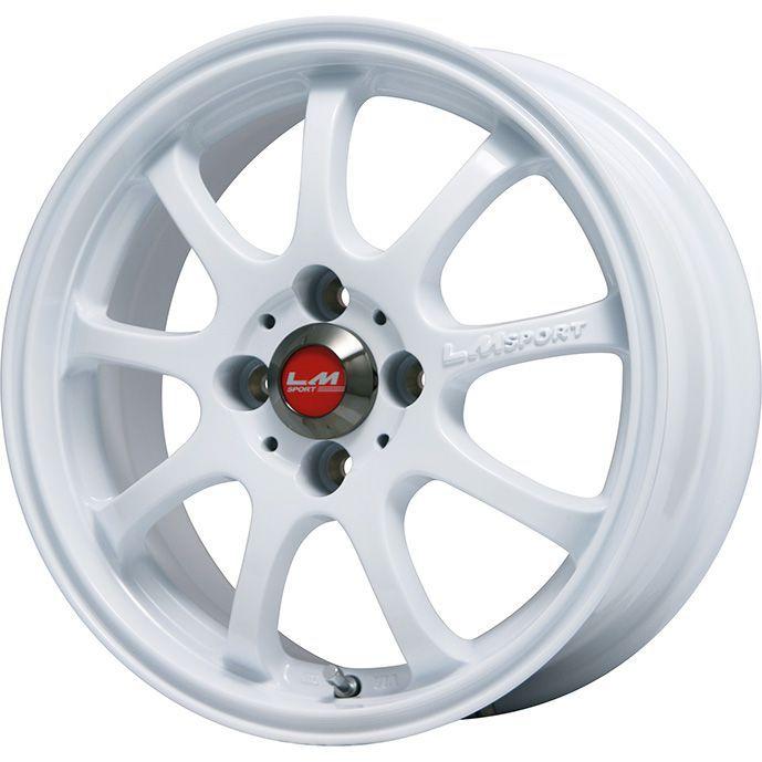 【送料無料】 165/65R15 15インチ LEHRMEISTER レアマイスター LMスポーツファイナル(ホワイト) 5J 5.00-15 UNIGRIP ユニグリップ ロードマイレージ(限定) サマータイヤ ホイール4本セット