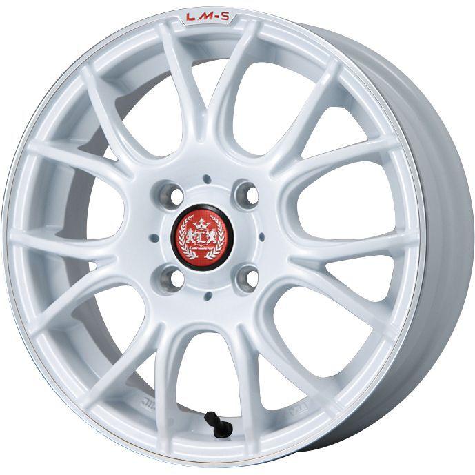 【送料無料】 165/65R14 14インチ LEHRMEISTER LM-S ヴェネート7 (ホワイト/リムポリッシュ) 4.5J 4.50-14 INTERSTATE インターステート ツーリングGT(限定) サマータイヤ ホイール4本セット