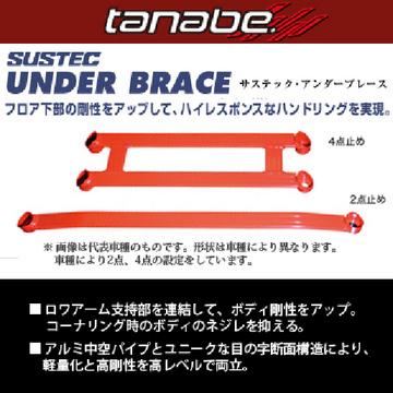 送料無料(一部離島除く TANABE タナベ SUSTEC UNDER BRACE サステック アンダーブレース トヨタ 86 2012/04~2016/07・ZN6 UBT29