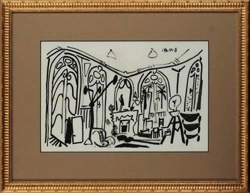 版画 中古 新作通販 スケッチブックより #36 リトグラフ ピカソ Picasso パブロ Pablo なし 限定タイムセール