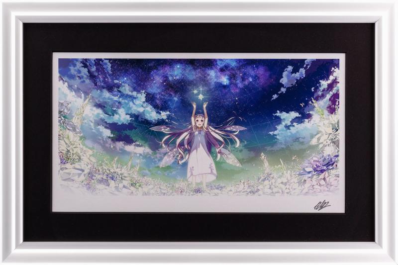 版画 中古 -サガシモノ- ガラスの花と壊す世界 ミクスドメディア 新作続 新品 Kantoku ペン サイン カントク 本人