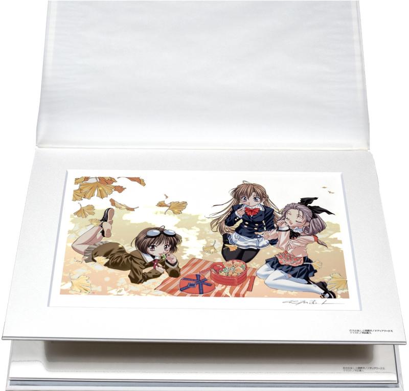 【版画】【中古】 シスタープリンセス 四季 ミックスドメディア 本人 鉛筆 サイン 天広直人(Naoto Tenhiro)